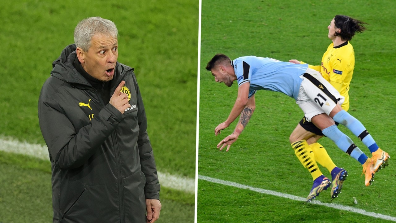 'He is in a swimming pool!' - Favre fumes over controversial Lazio penalty in Dortmund draw